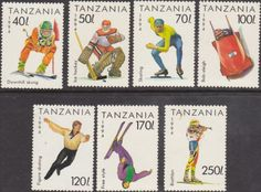 Tanzania 1994 Winter Olympic Games Set Fine Mint SG 1737/43 Scott 1201/7 Other Tanzania and British Commonwealth Stamps HERE!