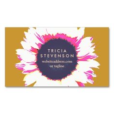 Modern Colorful SunFlower Cute Floral Business Card Templates