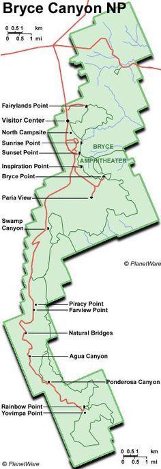 Utah - Bryce Canyon National Park - Map