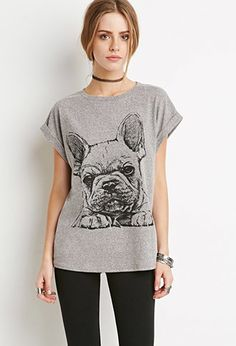 French Bulldog Graphic Tee | Forever 21 - 2000174112