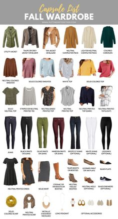 Sep 24, 2018 - Here's the fall capsule wardrobe for the PMT Fall 2018 Challenge! Rust and camel, waffle button ups, mustard yellow, vertical stripes, and mules are trends I'm personally excited about this fall!