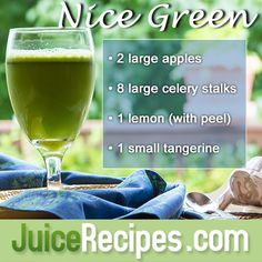 A delicious and healthy way to start drinking green juice! (For all the newbies out there) ;)