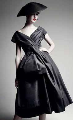 Christian Dior 'Delphine' dress, 1956. Photo: Patrick Demarchelier.