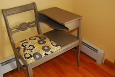 Vintage Distressed Telephone Table / Gossip Table - on sale on Etsy, $115.00 Vintage Telephone Table, Gossip Bench, Minwax, Accent Tables, Benches, Diy Furniture, Craft Projects, Relax, Chair