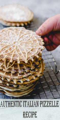This Authentic Italian Pizzelle Recipe for the classic Italian cookie includes anise extract and anise seeds for a truly traditional pizzelle Pizzelle Cookies, Authentic Italian Pizzelle Recipe, Authentic Italian Recipes, Italian Pastries, Italian Dishes, Pizelle Recipe, Pizzelle Recipe Anise, Italian Cookies, Italian Foods
