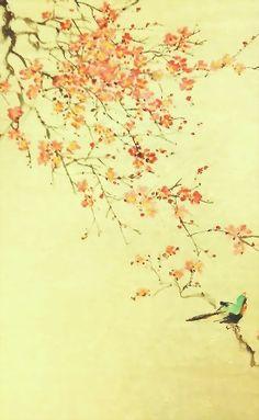 依然春色滿人間 (2)  2015 嶺南畫作品系列 oldsum artwork chanwingsum.weebly.com