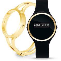 97e3128ce17 Anne Klein Fashion Fit Activity Tracking Black   Gold-Tone Watch Set -  Ladies -