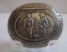 Antique Dutch .835 Silver Snuff Box,Made By ,H. Hooijkaas,FANTASTIC SHAPE