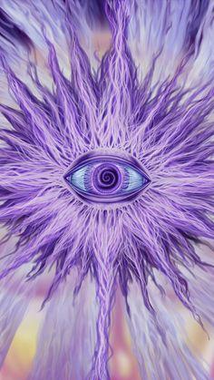 Psychedelic violet eye Mobile Wallpaper 13188