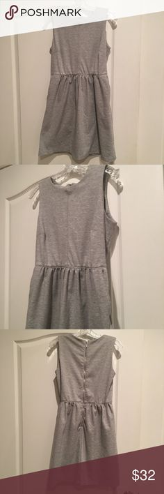 Paraphrase Grey A-Line Dress with Pockets Adorable heavy Knit grey a-line dress with Pockets and zip up back. Paraphrase Dresses