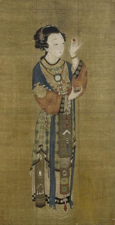 A rare chinese erotic portrait of the concubine pan jinlian kangxi Chinese Artwork, Chinese Painting, The Concubine, China Art, Drawing Reference Poses, Ancient China, Ink Painting, Art History, Erotic