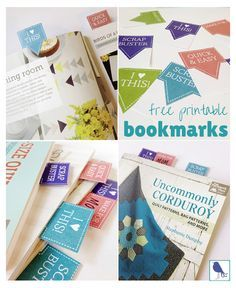 These free printable bookmarks are designed especially for quilters! Choose from four special messages that peek out at the top of each bookmark. Click through to print yours now.