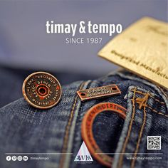 Have you seen our accessories collection?  #timaytempo #metal #accessories #aw18 #newcollection #denim #jeans #fashion #denimbutton #denimaccessories #metalbutton #metalaccessories #button #fastener #label #black #shiny #illusion #aw18