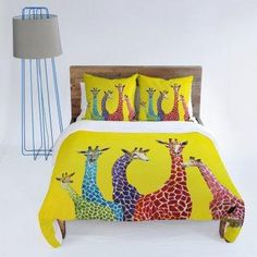 AH! Probably my next bed spread! Giraffes duvet cover.