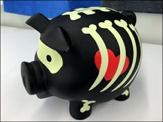 Goth Pig Piggy Bank Celebrates Halloween