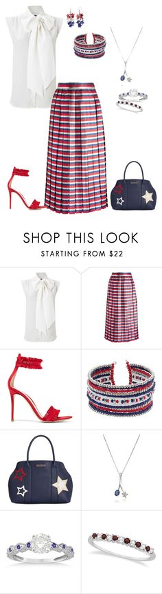 """""""Red white blue"""" by jbillington ❤ liked on Polyvore featuring French Connection, Gucci, Gianvito Rossi, Tommy Hilfiger, Incanto Royale and Allurez"""