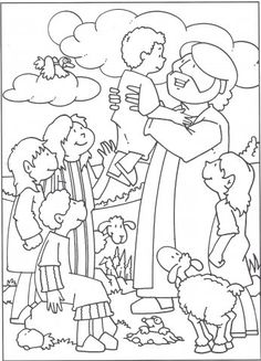 bijbelse kleurplaat laat de kind'ren tot mij komen - Google zoeken
