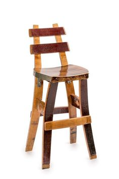 Wine Barrel Barstool Tall Back