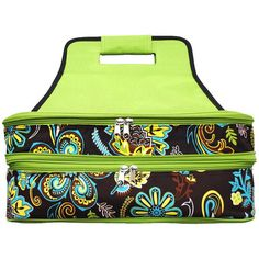 Paisley Green and Brown Insulated Casserole Tote by DesignsbyADF, $42.00