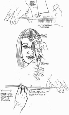 Friend made this diagram how to cut layered hair she cuts her own ...
