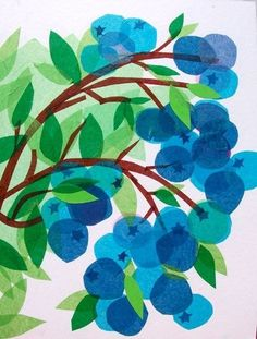 голубой, зеленый