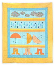 Curious Quilts: Rainy Day Single Quilt Pattern