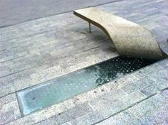 """Rolled up Bench: """"Pull up a piece of sidewalk and have a seat"""""""