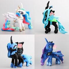 Cartoon Pony Princess Luna Nightmare Moon Magic Unicorn Doll Toy Soft Cute Girl #CartoonPonyChina