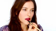 GREAT video for how to make dark berry-colored lips wearable for every day!