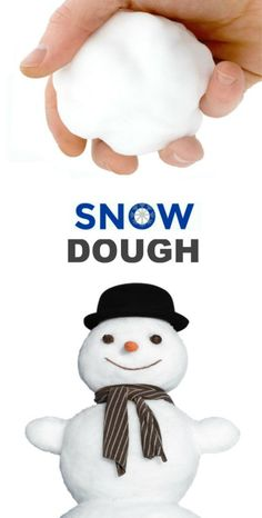 SNOW DOUGH – icy-cold just like real snow! Preschool Christmas, Christmas Activities, Craft Activities, Preschool Crafts, Kids Christmas, Fun Crafts, Winter Activities, Diys For Christmas, Christmas Ideas For Toddlers