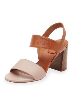 d7862da21efb Chloe Mia Colorblock Leather 70mm Sandal