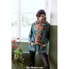 Echarpe  tricotée avec la qualité   Smilla   de  Lang Yarns . Vous trouverez les explications de ce modèle dans le   FLYER SMILLA LANG YARNS  .