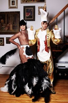 Babette and Lumiere! 24 Super-Unique Halloween Costumes From NYC& Fashion Influencers Celebrity Couple Costumes, Best Celebrity Halloween Costumes, Unique Halloween Costumes, Halloween Dress, Cool Costumes, Costume Ideas, Halloween 2017, Halloween Alley, Halloween Stuff