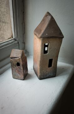 12x5x5-24x9x9 hand built raku sculptures / dream houses / www.tamararapoglu.com