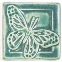 "Pewabic Tileworks This Butterfly was taken directly from the 6x12"" Garden Life…"