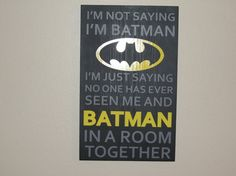 BATMAN Superhero boys wood hand painted sign  for bedroom playroom man cave on Etsy, $35.00
