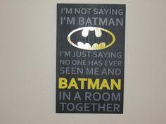 BATMAN Superhero boys wood hand painted sign  for bedroom playroom man cave on Etsy, $35.00