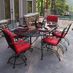5 Piece Wrought Iron Patio Furniture Dining Set Seats 4 Outdoors Pinterest And