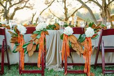 magnolia chair swags | Sunglow Photography