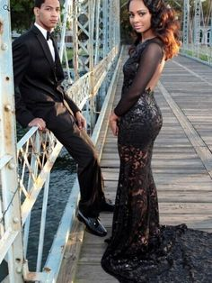 black prom Dress,backless Prom Dress,long prom dress,see through prom – queendress