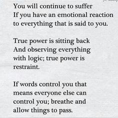 True power is restraint...