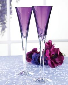 Waterford Crystal Toasting Flutes  www.tablescapesbydesign.com https://www.facebook.com/pages/Tablescapes-By-Design/129811416695