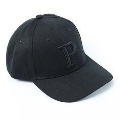 Unisex P Embroidered Ajustable Baseball Hats Caps black