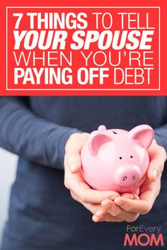How to pay off debt: 7 things to tell your spouse to encourage him while you're paying off debt. Great marriage advice and money advice when you are looking to get debt free together. Pay off Debt Save My Marriage, Marriage Advice, Biblical Marriage, Relationship Advice, Ways To Save Money, Money Saving Tips, Saving Ideas, Money Tips, Paying Off Credit Cards