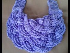 bufanda navidad facil a crochet how to do scraff (subtittles) - YouTube