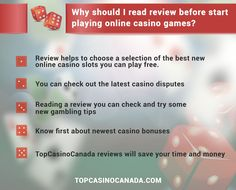 Why you Should Read the Review Before Start Playing Online Casino Games?