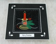 Christmas Card handmade 'Christmas Candle holly berries