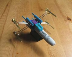 How to Make an X-Wing Fighter from Office Supplies