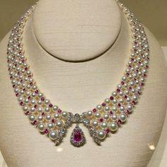 Beautiful Mikimoto pearl necklace.