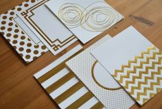 Gold Luxe Foil Patterned Paper Collection (24 sheets)  $10